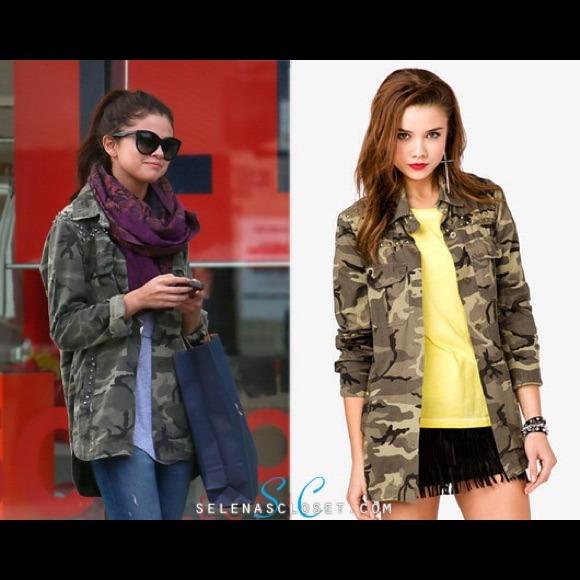 94d8b0bfe42cc Forever 21 Jackets & Blazers - {Forever 21} Studded Army Camo shirt jacket  Sz