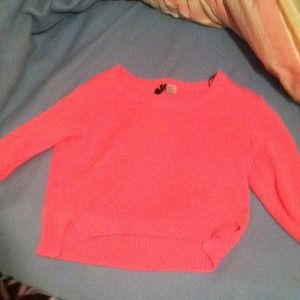 Hot pink cropped sweater