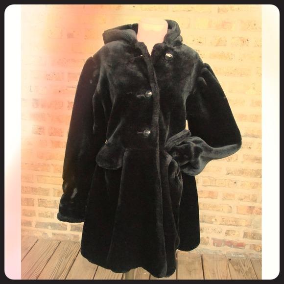 5eab3e1c748 maria dionisiou for olympia Jackets & Coats | Faux Fur Black Hooded ...