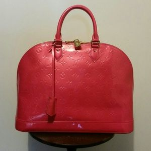 AUTHENTIC Louis Vuitton Alma GM Rose Pop Handbag