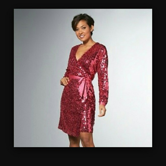 71% off love adam Dresses & Skirts - Sequin wrap dress from ...