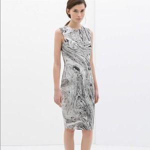 Zara Marble Printed Dress