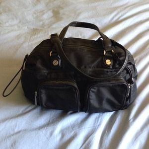 L.A.M.B. Whitmore Black Nylon Satchel