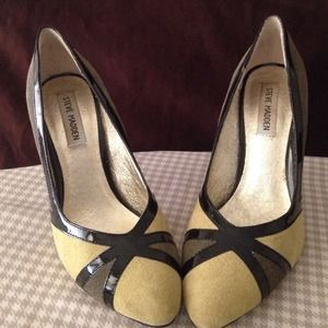 Steve Madden Leather Two Tone Patent Pumps