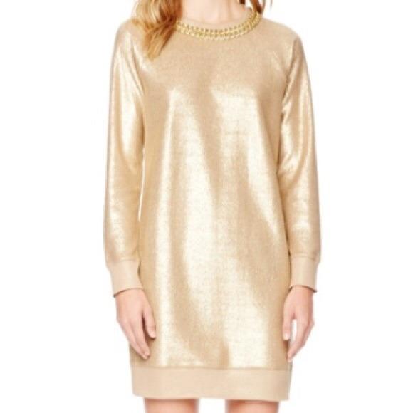 c137d9f2f9 Michael by Michael Kors Gold Sweater Dress