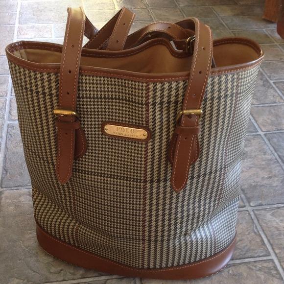 Vintage POLO Ralph Lauren Bucket Bag. M 544d2eee93c6360560012713 43d383560be1b
