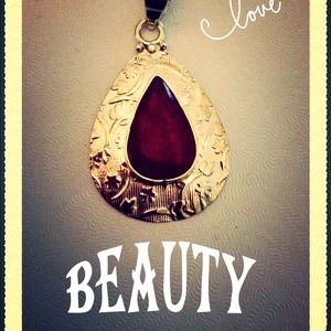 Jewelry - HOLD Gorgeous Natural Red Ruby in Sterling Silver