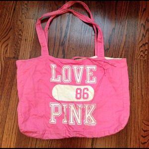 Victoria's Secret Handbags - Reversible VS PINK cotton tote bag
