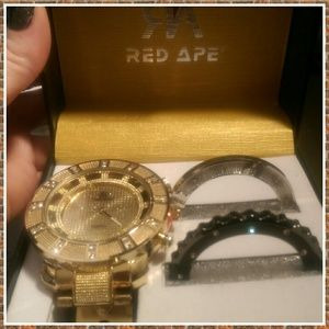 Red Ape Red Ape Bling Watch W Interchangeable Faces Nib