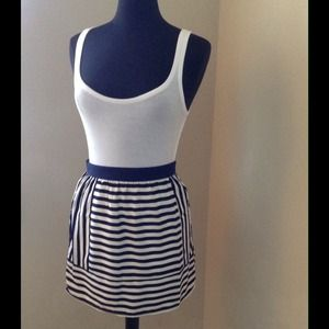 Rhyme Los Angeles Dresses & Skirts - Piperlime striped mini (NWT)