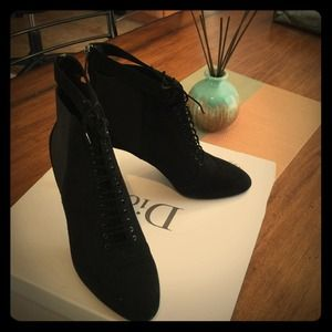 Dior Lacets Low Boot black booties sz 40 (8.5-9)