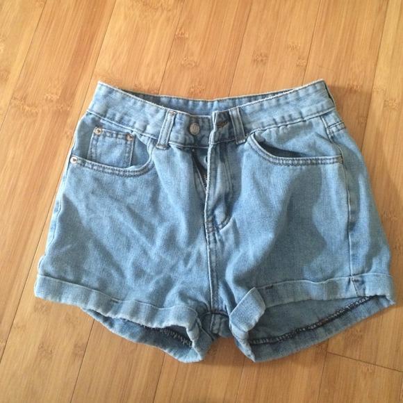 709918074f American Apparel Denim - American apparel inspired high waisted shorts