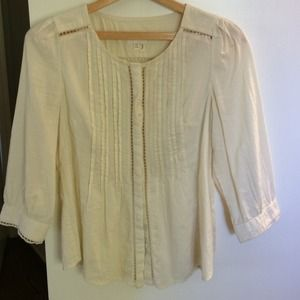 Anthropologie cotton button down top
