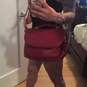 Burgundy Messenger Bag