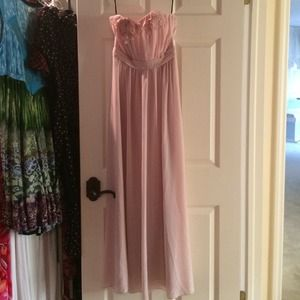 Blush Pink Floor Length Gown
