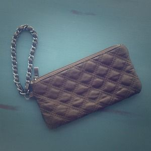 Handbags - Quilted bronze night out wristlet