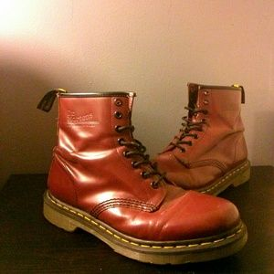 35 Off Doctor Martins Shoes Shiny Cherry Red Doc