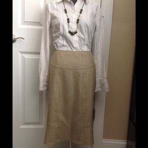 Olive and brown wool skirt