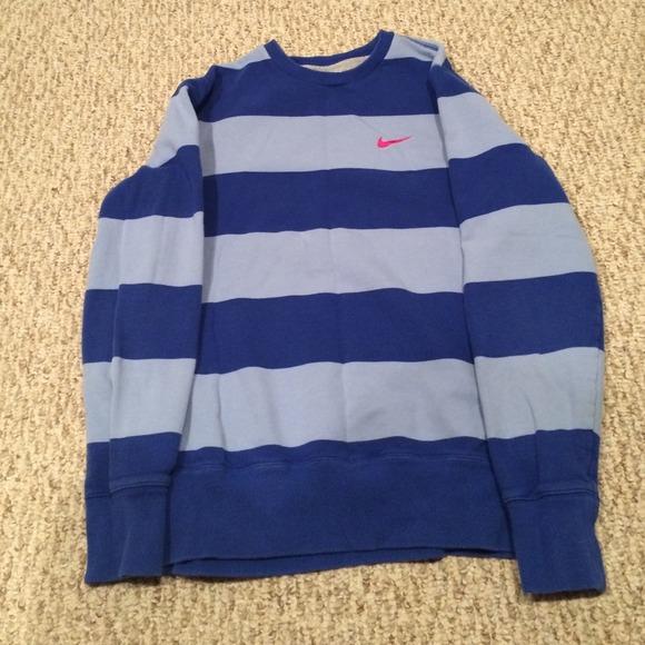 ffa6e1c2b1fe Nike sweater light blue and dark blue stripes. M 544db1fa912644054706455c