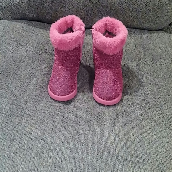 50% off Other - Pre-owned toddler girls grey suede glitter boots ...