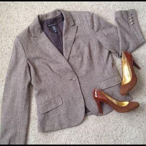 NY&Co 7th Ave Metallic Tweed Jacket