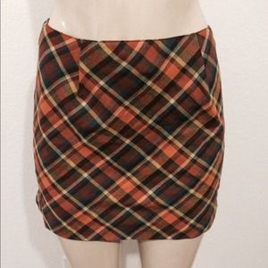 URBAN hipster Orange Plaid Schoolgirl Skirt Sz 3