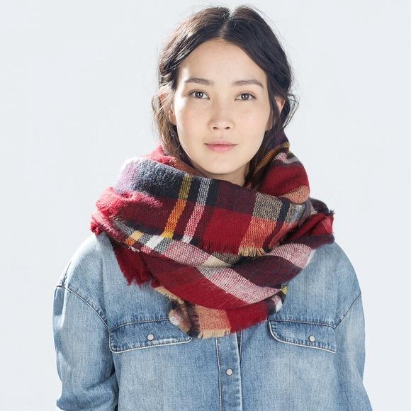 🎉CCO Zara Checked Blanket Scarf
