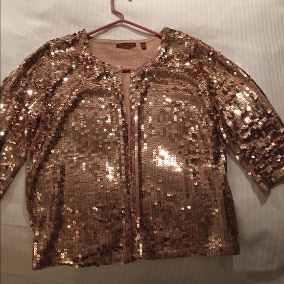 80% off Boston Proper Jackets & Blazers - Rose gold sequin ...