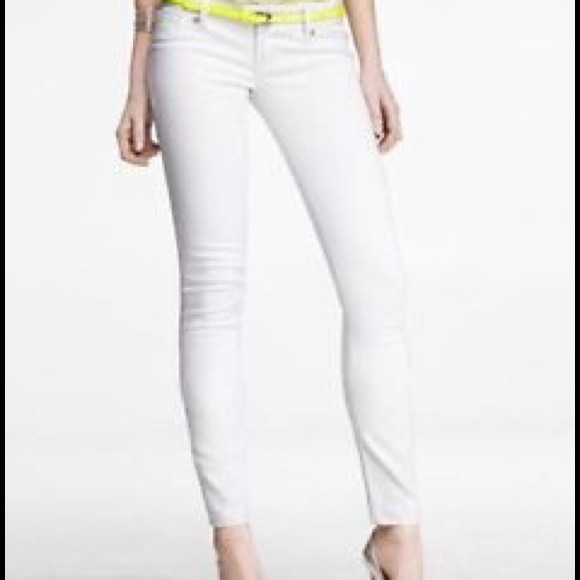 91% off Express Denim - Express white skinny jeans legging from ...