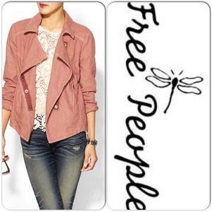 ❤️Host Pick❤️ NWT Free People Linen Moto Jacket