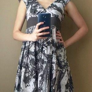 Adorable Patterned Empire Waist Dress