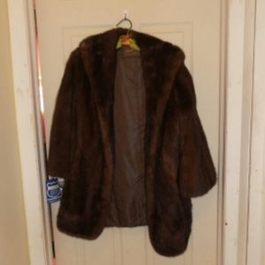 Vintage 50's or 60's Mink Cape/Jacket