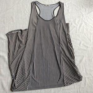 central park dresses black white stripe tank dress large new nwt
