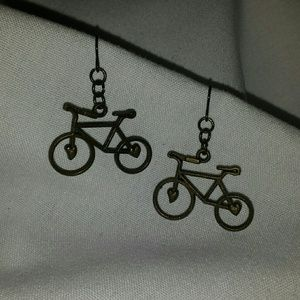 SALE!Bicycle Earrings with  touch of Vintage look