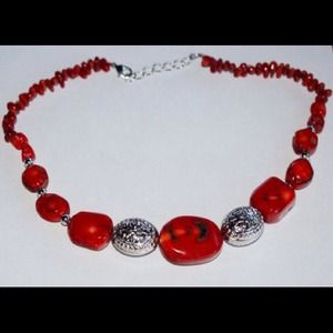 handmade & handcrafted gemstone jewelry Jewelry - ✂️SALE✂️💥Natural Red Sea Coral Gemstone Necklace