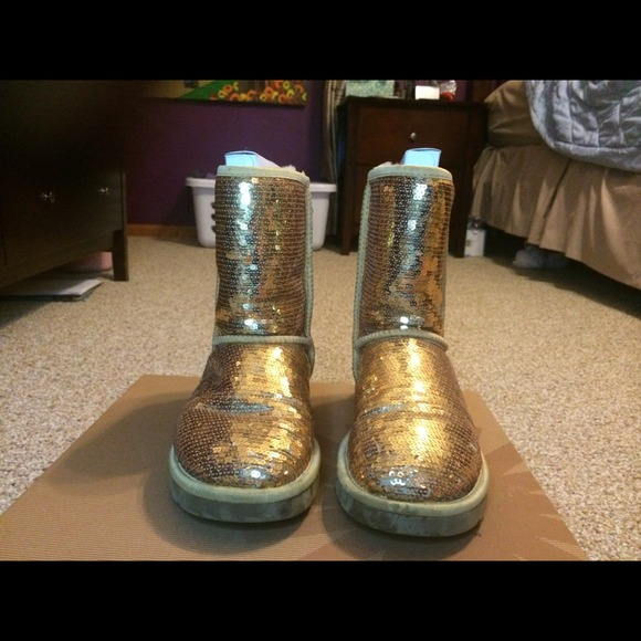 Gold Sequin Uggs Sparkle Uggs Gold Sequin