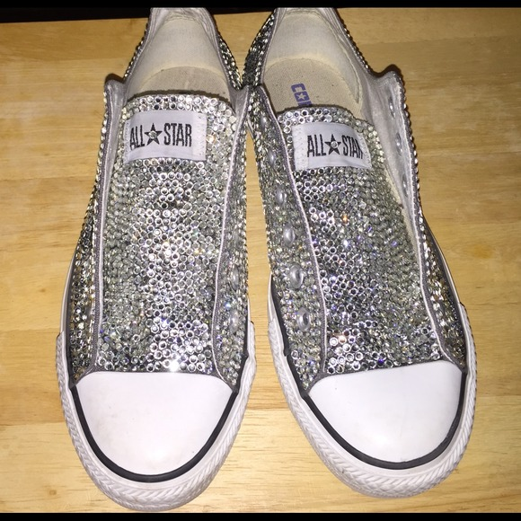 Converse Shoes - Embellished rhinestone crystal converse efbd5d4f6
