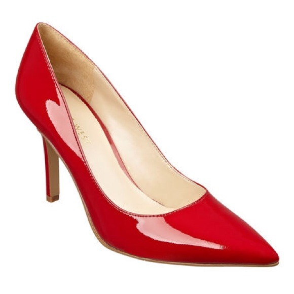 86% off Nine West Shoes - Nine West red patent leather heels from