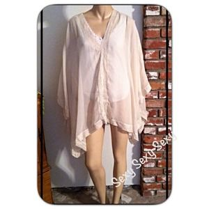 5a74c0be919 Chico s Tops - HP Chico s Sexy Sheer Lace Handkerchief Shirt