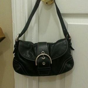 Coach Small Black Leather Shoulder Bag 96
