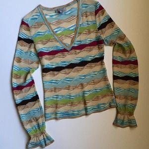 M by Missoni Tops - M Missoni Light Sweater with cuffs 42 ( fits 4-6)
