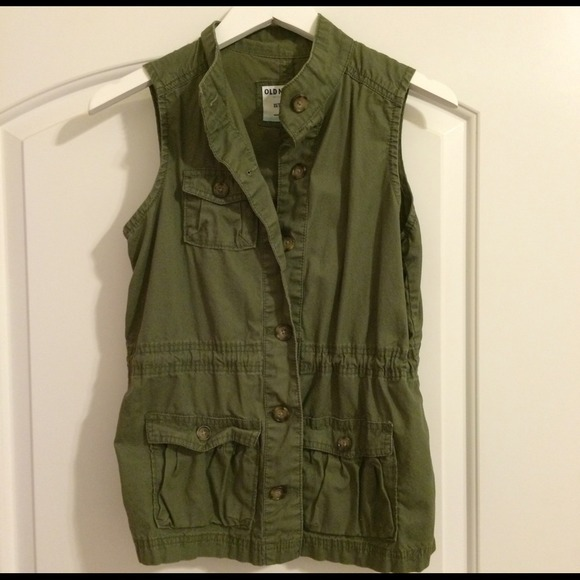 Old Navy Tops - Old Navy Green Military Vest