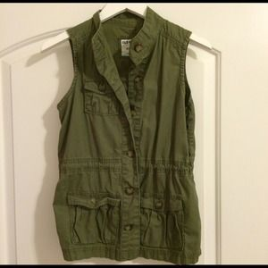 Old Navy Green Military Vest