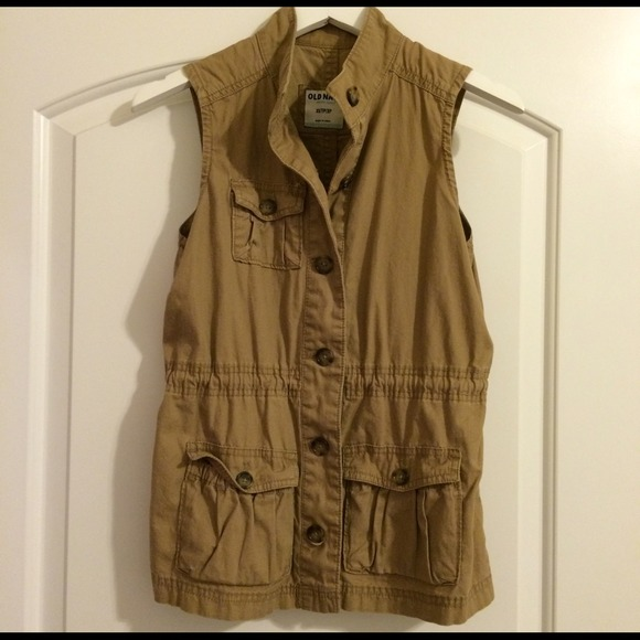 Old Navy Tops - Old Navy Tan Military Vest