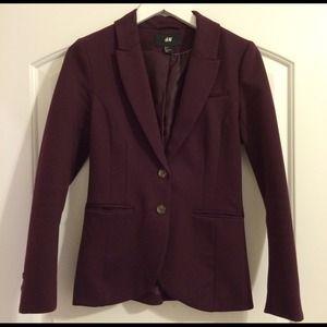 H&M Jackets & Blazers - H&M plum blazer