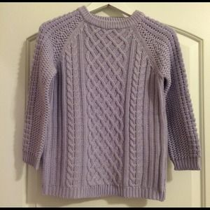 Adorable Zara Purple Cable Knit Sweater