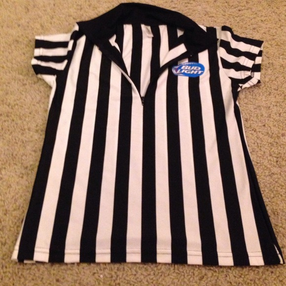 884879b8c92b88 in your face apparel Tops - Bud Light Referee jersey