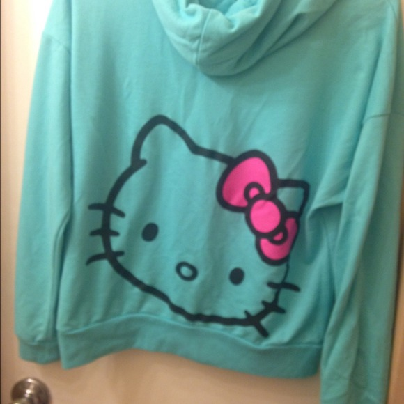 Hello Kitty Pullover Hoodie Hello Kitty Teal Pullover