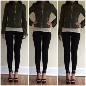 Express minus leather moto jacket s