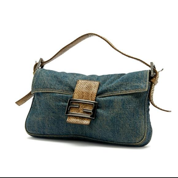 f4c97b5a3e6 FENDI Bags | Baguette Denim Medium | Poshmark